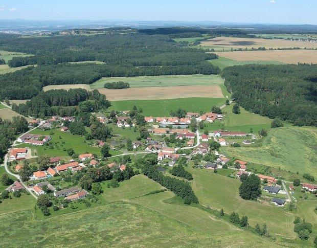 Pohled na obec z výšky