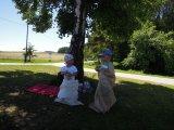 děti účastnící se soutěží na dětském dni