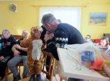 děti převlečené v maškarních kostýmech - tygřík