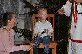 Mikulášská nadílka - děti přednáší báseň