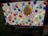 cedule vytvořená místníma dětma