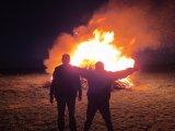hořící vatra